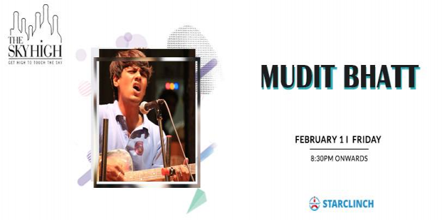 Mudit Bhatt - Performing LIVE At The Sky High, Ansal Plaza