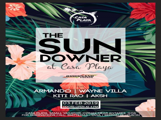 The Sundowner at Casa Playa 3rd February 2019