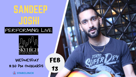 Sandeep Joshi - Performing LIVE at The Sky High, Ansal Plaza
