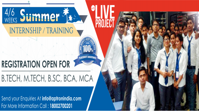 Summer Training in Noida with Internship by APTRON Noida