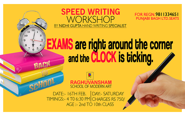 Speed Writing Workshop