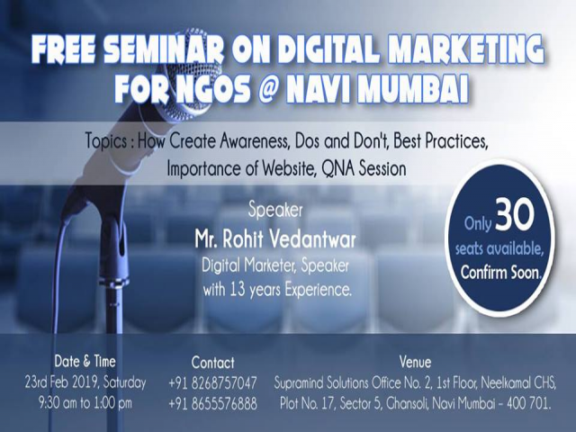 Free Seminar on Digital Marketing for NGOs