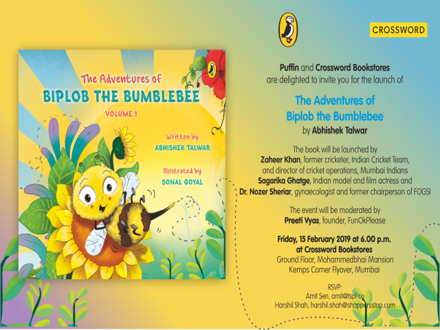 Book launch - The Adventures of Biplob The Bumblebee