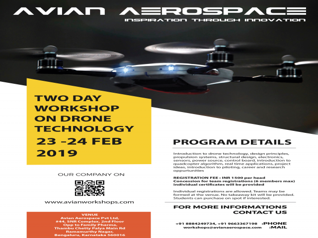 TWO-DAY WORKSHOP ON DRONE TECHNOLOGY