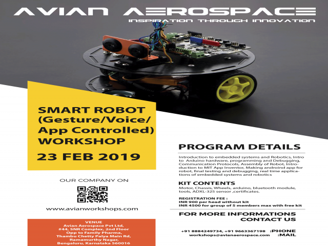 ONE-DAY WORKSHOP ON SMART ROBOT