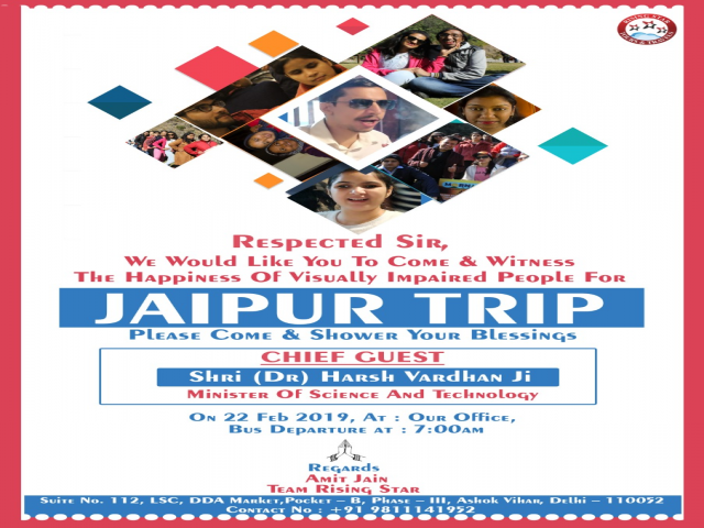 The Grand Flag-Off Ceremony of RSTT Trip to Jaipur for the Visually impaired