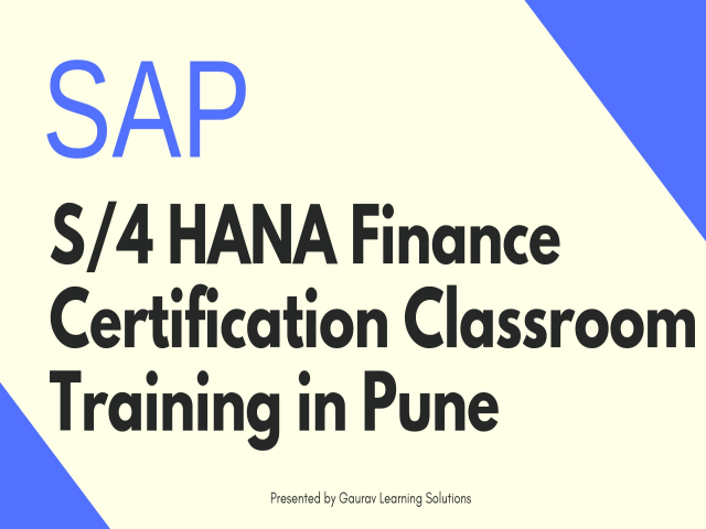SAP S/4 HANA Finance Certification Classroom Training in Pune