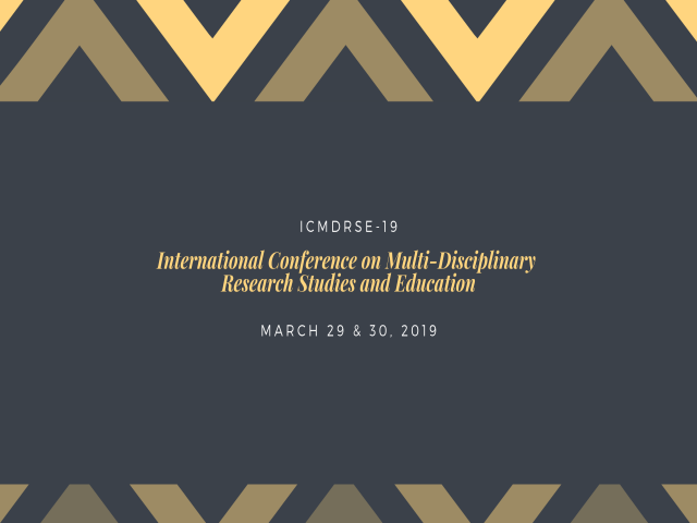 International Conference on Multi-Disciplinary Research Studies and Education