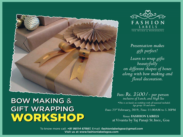 Bow Making & Gift Wrapping Workshop