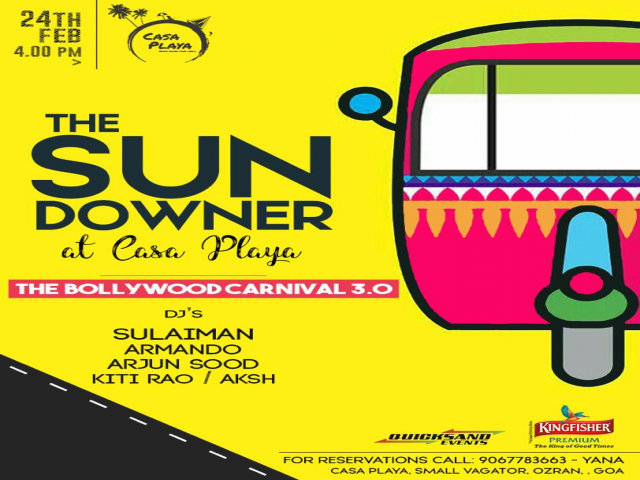 The Sundowner at Casa Playa- Bollywood Carnival