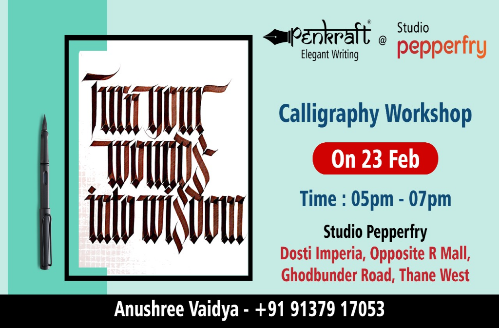 Calligraphy Workshop at Pepperfry Studio