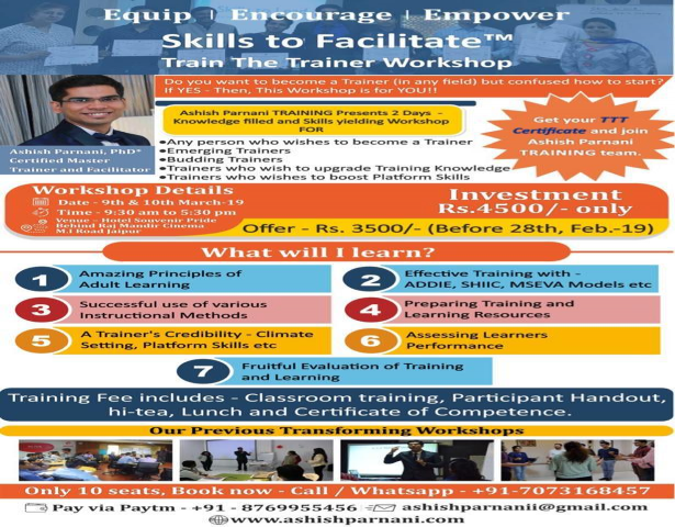 Skills to Facilitate- Train The Trainer Workshop