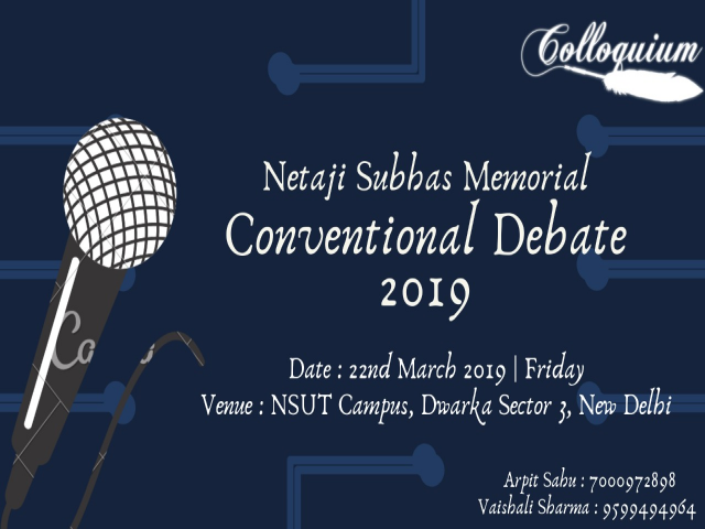 Netaji Subhas Memorial English Conventional Debate