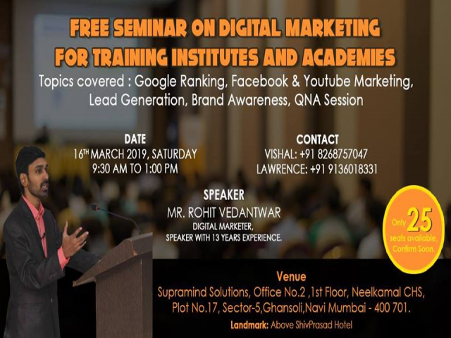 Free Digital Marketing Seminar for Training Institutes