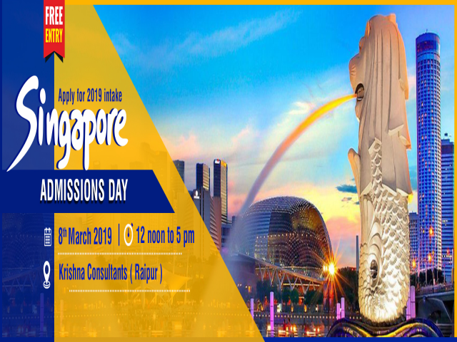 Singapore Admissions Day at KC Raipur on 8th March 2019. Register Now!