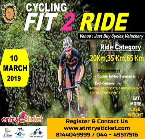 Fit 2 Ride in Chennai- Entryeticket