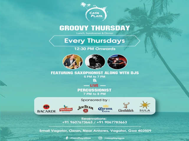 Groovy Thursdays 7th March 2019