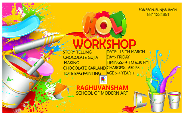 Holi Workshop at Raghuvansham