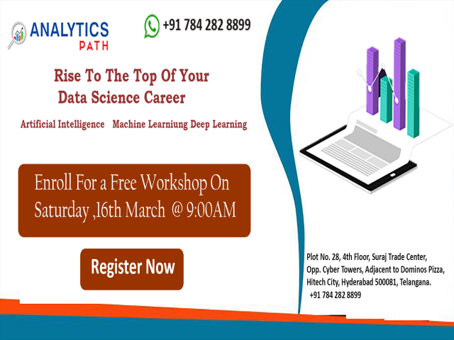 Attend Free Data Science  Workshop By Analytics Path On 16th March,9AM, Hyd