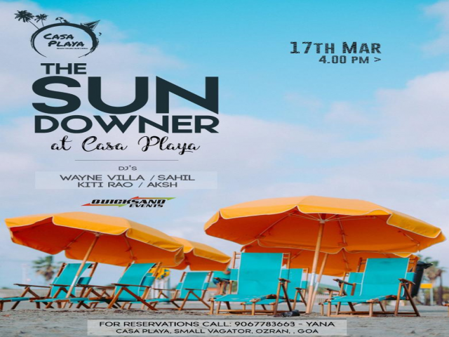 The Sundowner at Casa Playa 17th March 2019