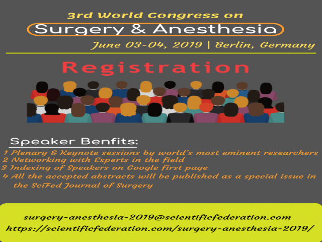 3rd World Congress on Surgery & Anesthesia