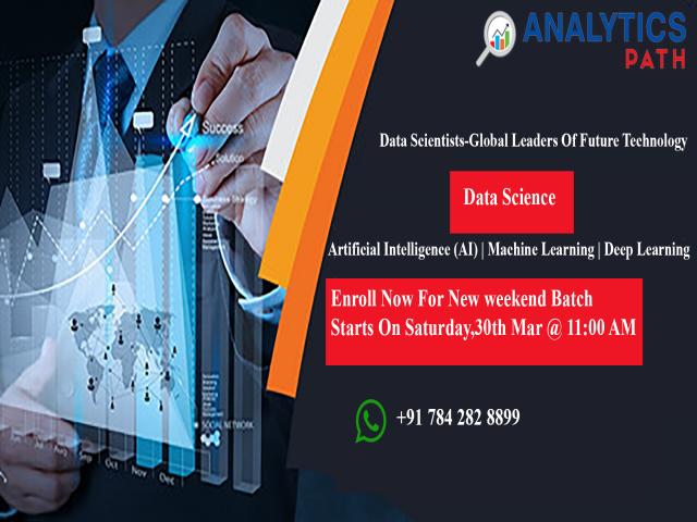 Enroll Data Science New Weekend Batch at  Analytics Path on 30th Mar @ 11 am