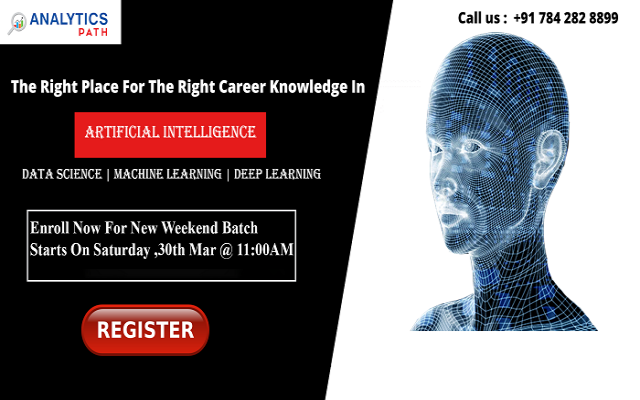 Analytics Path New Weekend Batch session on AI training on 30th March, 11 AM.
