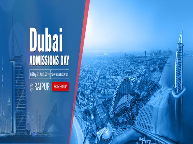 Dubai Admissions Day at KC Raipur - Friday, 5th April 2019
