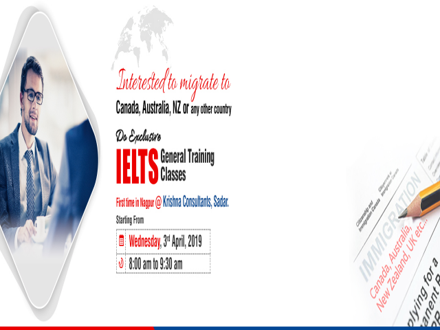 General IELTS Training in Nagpur - New Batch Starting from 3rd April 2019
