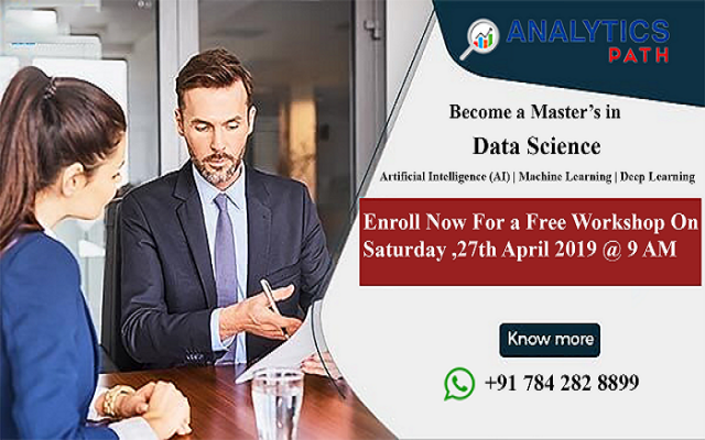 Attend Free Data Science  Workshop By Analytics Path On 27th April,9AM, Hyd