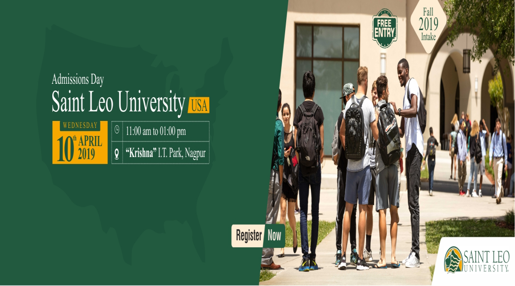 Meet Saint Leo University, USA at Krishna Consultants Nagpur - Wednesday, 10th A