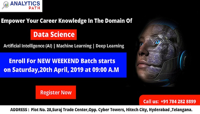Data Science New Weekend Batch By Analytics Path & Become Expert Data Scientist