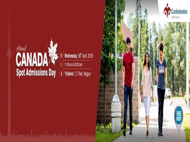 Meet Confederation College, Canada at KC I.T Park, Nagpur - 10th April 2019