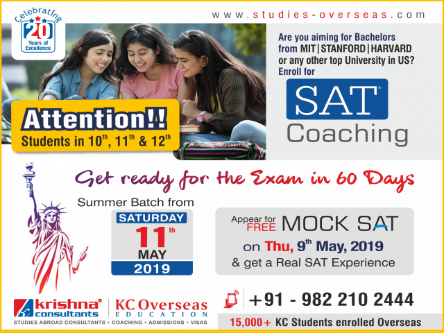 SAT Coaching in Nagpur - New Batch Starting from Saturday,11th May 2019