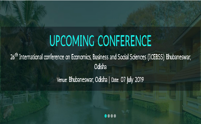26th International conference on Economics, Business and Social Sciences