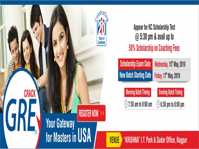GRE Coaching in Nagpur - 17th May 2019 | Register Now