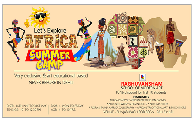 Summer Camp at Raghuvansham School of Modern Art
