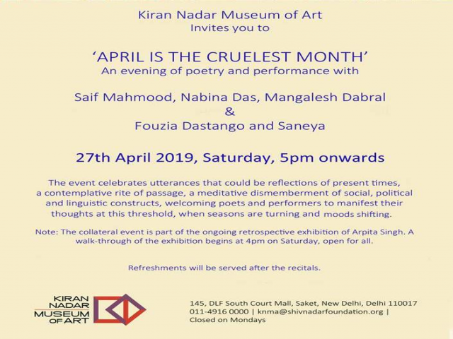 April is the Cruelest Month -  An evening with poets and performance