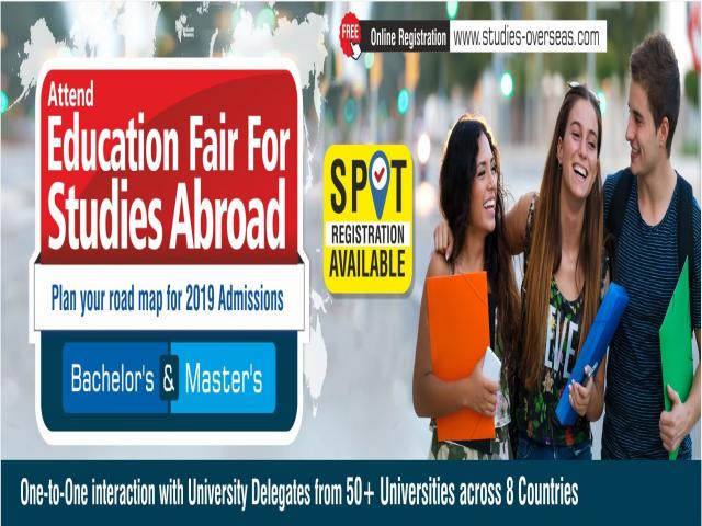 Overseas Education Fair in Raipur - Saturday, 26th May 2019 | Free Entry