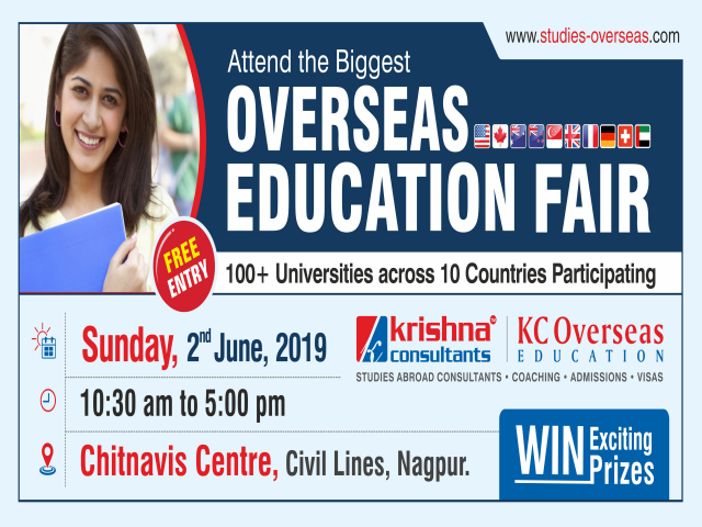 Overseas Education Fair in Nagpur - Sunday, 2nd June 2019 | Free Entry