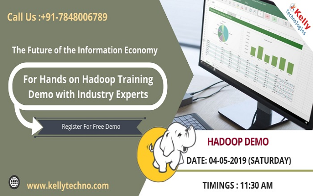 Start Enrolling For Hadoop Training Free Demo By Kelly Technologies