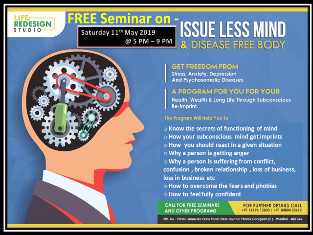 Issue-Less Mind & Disease Free Body Seminar