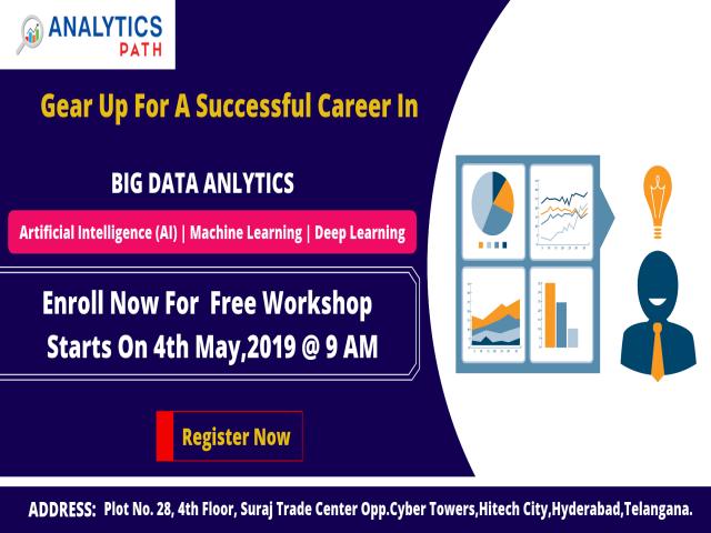 Free Big Data Analytics  Workshop At Analytics Path On 4th May,9AM, Hyd