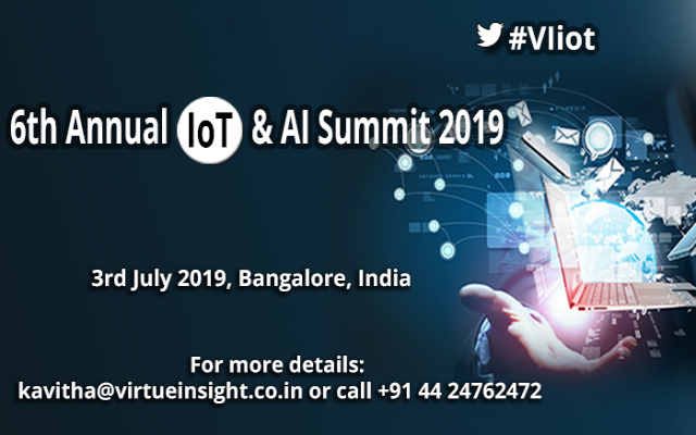 6th Annual IoT & AI Summit 2019