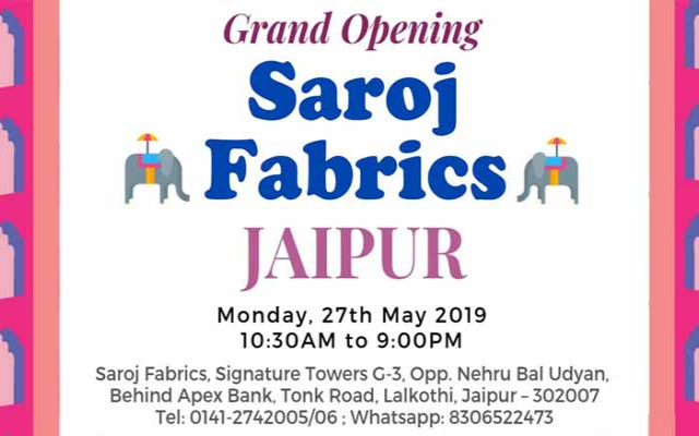 Grand Opening of Saroj Fabrics in Jaipur