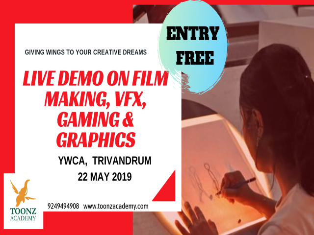 Free Live Demo on Film Making, VFX, Gaming & Graphics