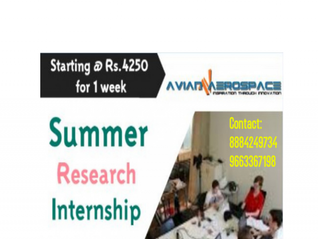 Summer Research Internship Cum Training Program Starting Rs.4250 for One week