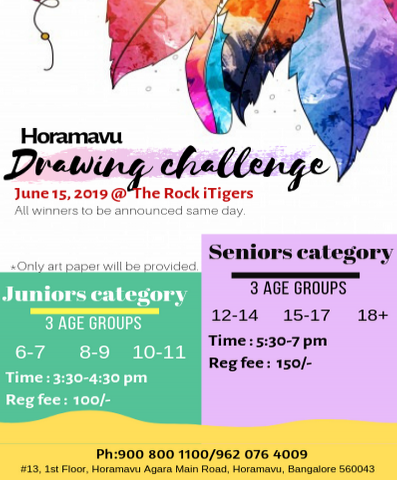 Horamavu Arts contest June 15,2019