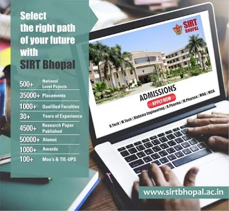 Admission open at SIRT Bhopal