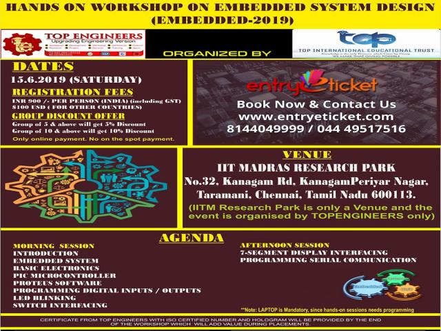 Hands on workshop on EMBEDDED SYSTEM - Entryeticket